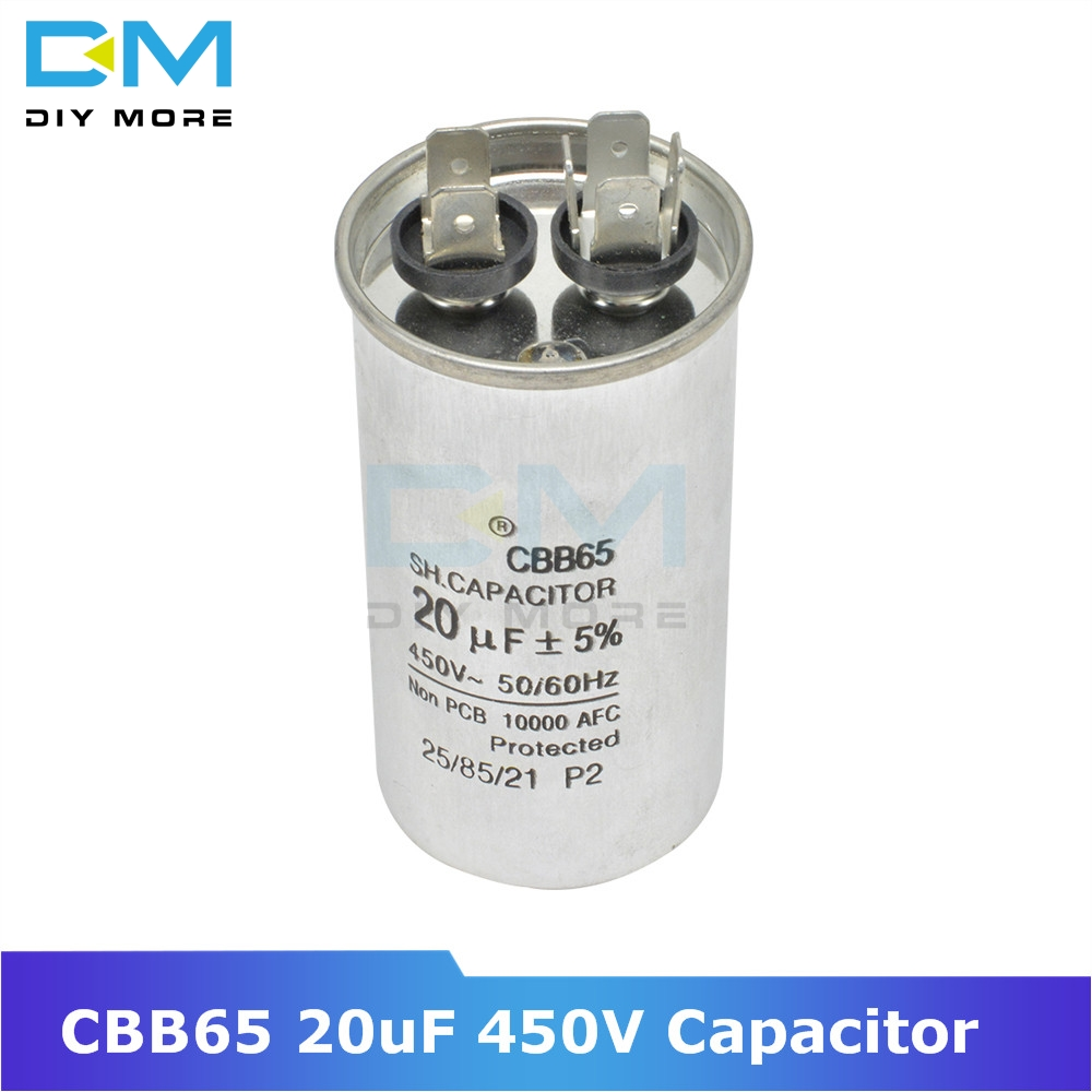 CBB65 20uF 450V AC Motor Capacitor Compressor Air Conditioner Start Capacitor For Washing Machine High-power Lighting Fixtures