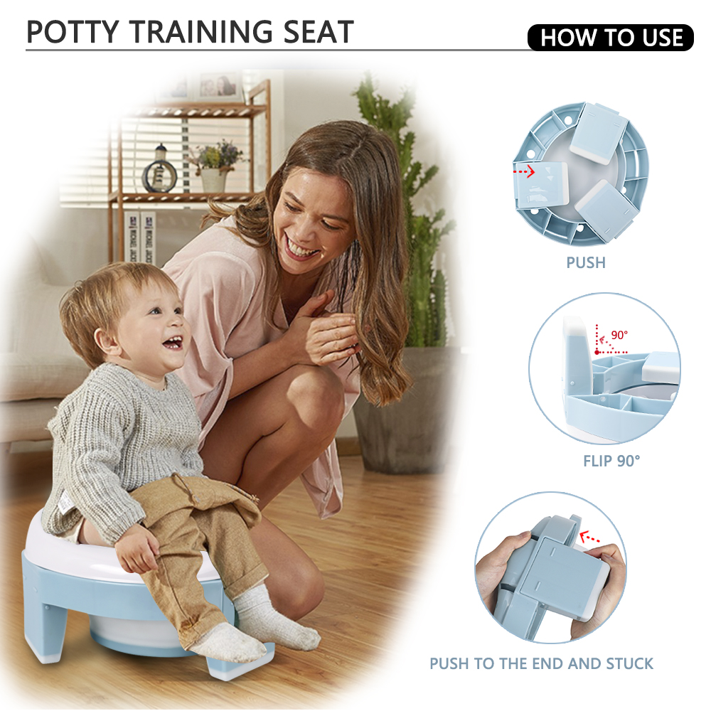 TYRY.HU Baby Toilet Silicone Travel Toilet For Kids Portable Baby Potty Toilet Dropship Multifunctional Training Seat Baby Pot