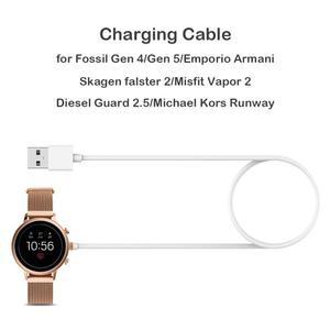 Image 3 - Cable de carga USB de 1m, base de carga, cargador de fijación magnética, para Emporio Armani Skagen Falster 2 Fossil Gen 4 Gen 5