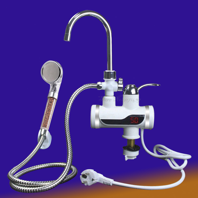 Water Heater  3000w Bathroom Faucet Electroheater Display Liquid Crystal Faucet Without Groove