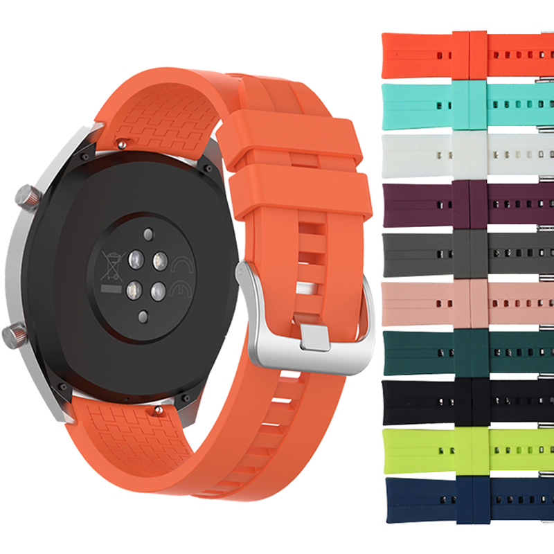 Replaceable Watchbands For HUAWEI WATCH GT 2 46mm/GT Active 46mm/HONOR Magic Silicone Strap Band GT2 Official Style Bracelet