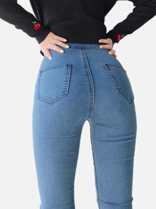 Tight Jeans Winter Trousers Feet-Pants Slim American-Style High-Waist Women's European