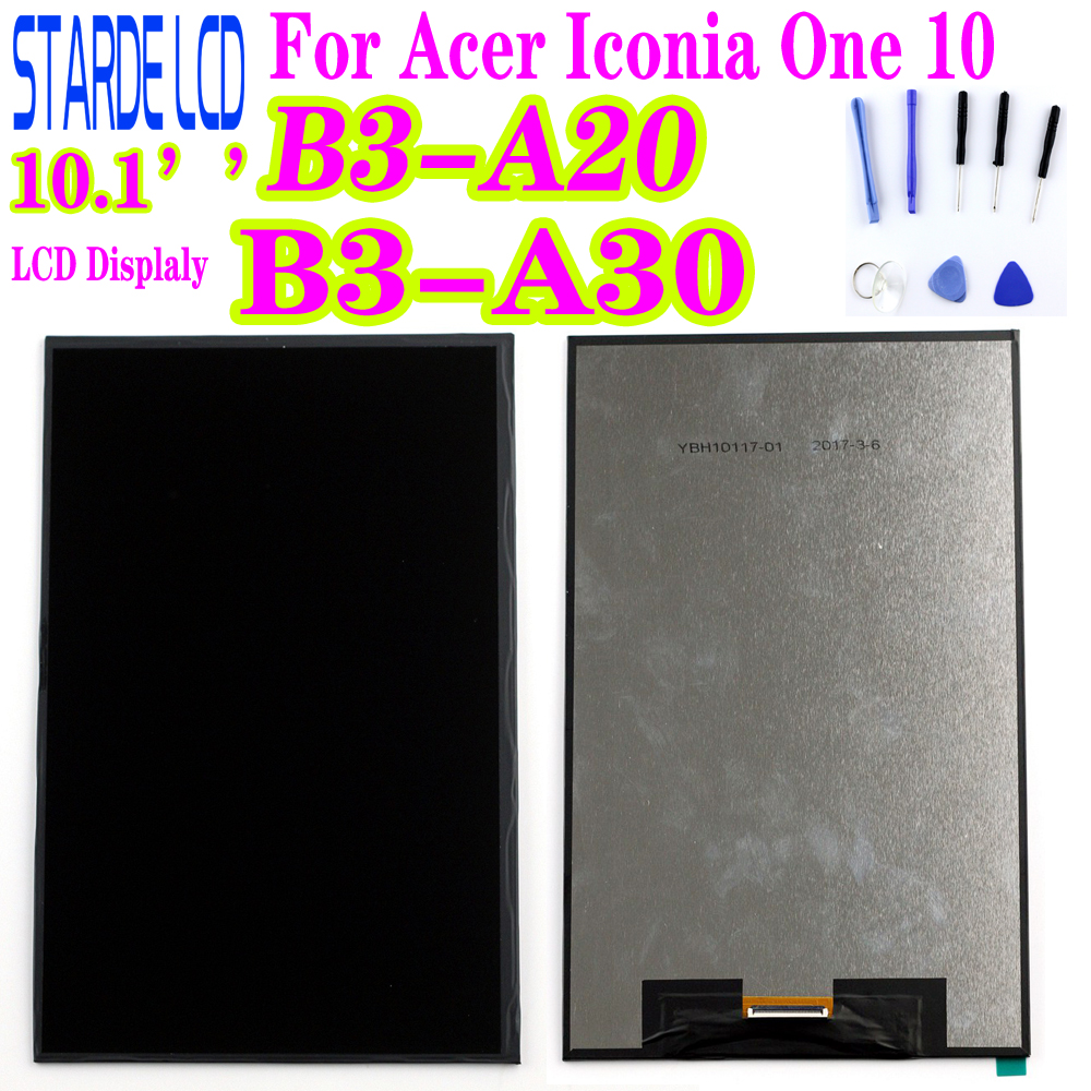 STARDE Replacement LCD For Acer Iconia ONE 10 B3-A20 A5008 LCD Display B3-A30 A6003 LCD Screen Replacement Witih Free Tools