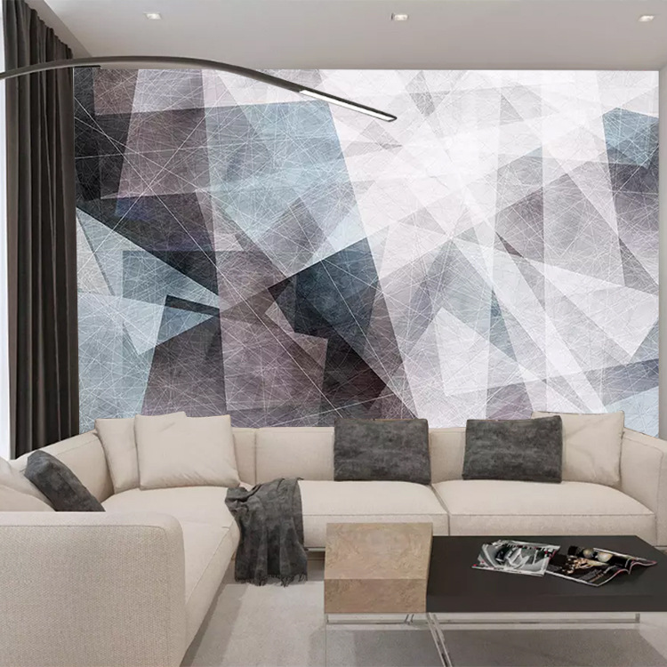 Scandinavian Minimalist Geometry Retro TV Backdrop Customization Of Individual Character Wallpaper Mural Wall Cloth Living Room