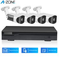 A ZONE H.265 8CH 5MP HD POE NVR Kit CCTV Security System Infrared Outdoor Audio Record P2P Home Video Surveillance Camera Set