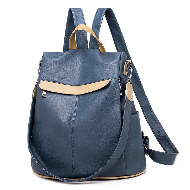 Women Backpack Anti-theft Soft Leather Shoulder Bags For Women Girl Travel Backpack Large Capacity Books Bag Mochila Feminina