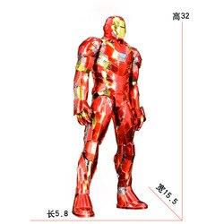 Стальной голем цельнометаллический DIY собранная модель 3D головоломка 1/6 Железный человек трудные проблемы