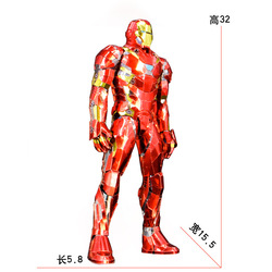 Staal Golem Alle-Metalen DIY Gemonteerd Model 3D Puzzel 1/6 Iron Man Moeilijk Uitdagingen
