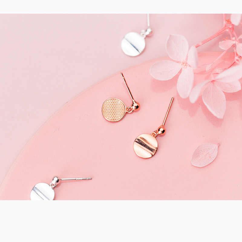 Trusta 925 Sterling Silver Anting-Anting Perhiasan Solid Hal Wafer 925 Anting-Anting Anting-Anting Gadis Wanita Hadiah Fashion DS1354