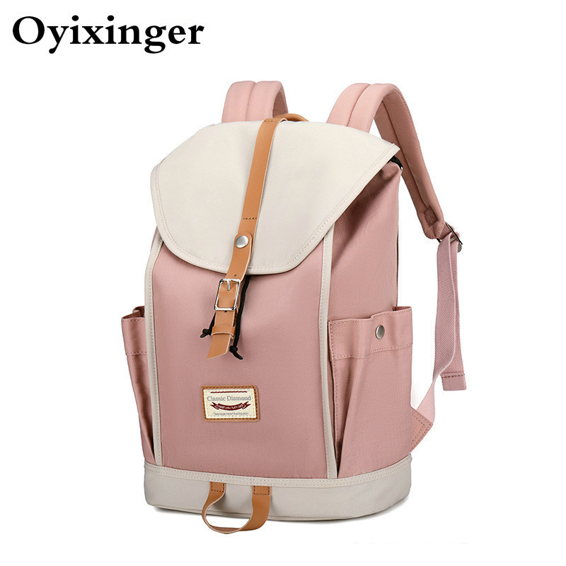 OYIXINGER New Girls Campus Middle School Bags For Teenage Student Bag Big Capacity Travel Laptop Backpack Women Mochila Feminina