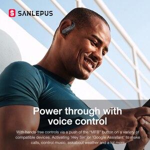 Image 5 - SANLEPUS B1 Led ekran Bluetooth kulaklık kablosuz kulaklıklar TWS Stereo kulakiçi spor oyun kulaklık için Xiaomi Huawei iPhone