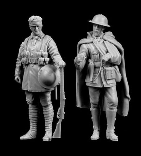 1/35 Ancient Warrior Stand Include 2    Resin Figure Model Miniature Gk Unassembly Unpainted