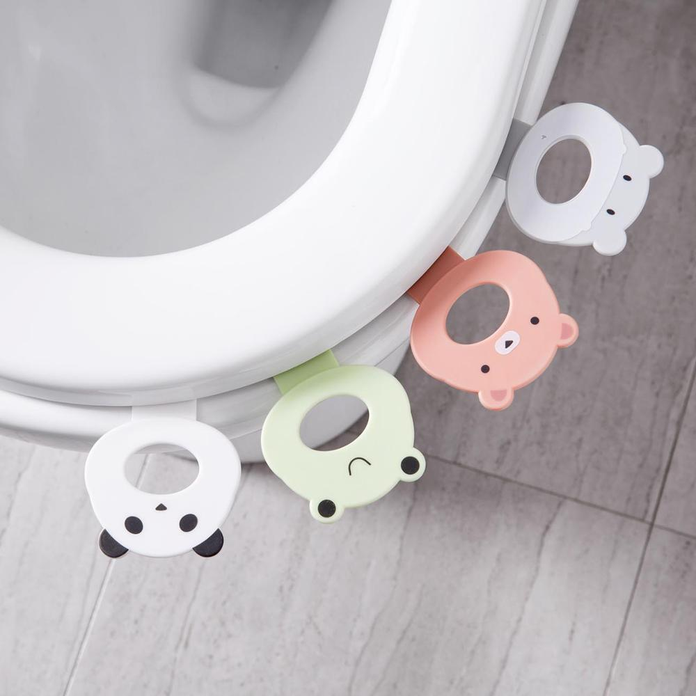 2Pcs Toilet Seat Lifter Toilet Cover Portable Sanitary Device Lifting Sticker Toilet Lifters Healthy Bathroom Accessories
