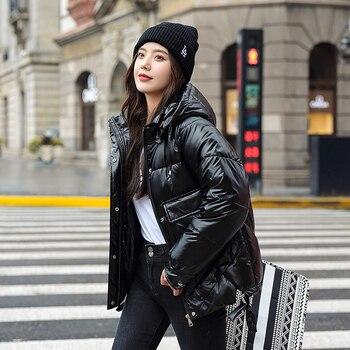 ¡Novedad de 2020! Parkas de invierno, de alta calidad Abrigo con capucha, chaquetas de moda para mujer, ropa de invierno cálida para mujer, chaqueta informal