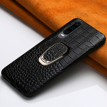 Genuine Leather Phone case for huawei P30 Lite Pro P20 P40 Pro bracket Magnetic cover for Honor Note 10 20 Pro 10i 10 Lite 8X