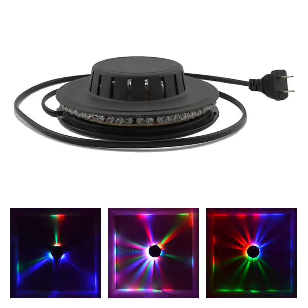 Mini 48 LED 8W RGB Sunflower Lights Sound Control Heronsbill Hang Wall Rotating Horse Race Lamp DJ Party Show Stage Lighting LS8