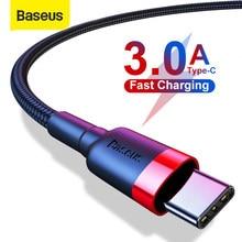 Baseus usb tipo c cabo para xiaomi redmi nota 8 8 pro cabo tipo c carregamento rápido para samsung cabo kabel usb c USB-C cabo