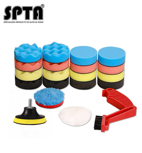 Набор полировочных подушек SPTA для дрели, набор полировальных подушек для полировки, многофункциональные щеточки для очистки автомобиля, 22 ...