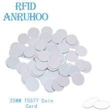 5/10PCS RFID Access Control Coin Card 125Khz EM4305 Rewriteable Copy Keychain Smart Chip Badge T5577 Copier Duplicator Sticker