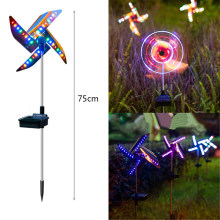 32LED Solar Ground Light Outdoor Decorative Windmill Waterproof Night Light LED Spot Light Garden Path Landscape Lights
