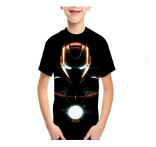 LBG New Iron Man Childrens T-shirt 3D Print Teen T-Shirt Fashion Kids Casual Short Sleeve Outdoor Sports