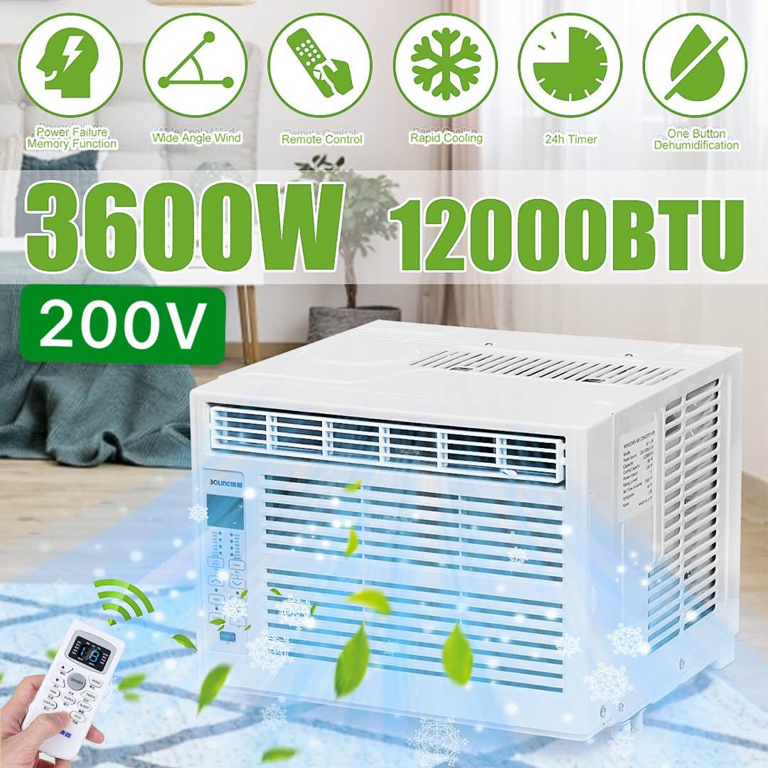 3600W Desktop Air Conditioner AC220-240V24-hour Timer Cold Use With Remote Control LED Control Panel 12000BTU Pet Air Conditione