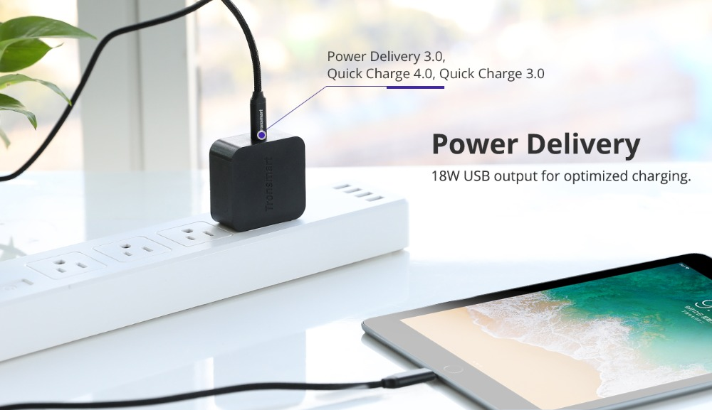 Tronsmart WCP01 PD Charger 18W Quick Charge 3.0 Power Delivery 3.0 USB Type-C Phone Charger for iphone,huawei,xiaomi (3)