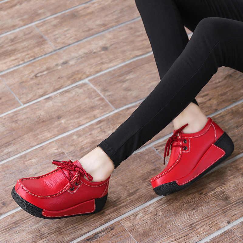 Fujin kadın çizmeler ayak bileği kısa süet Lace Up kadın ayakkabı sonbahar bayanlar fermuar rahat düşük topuklu dikiş kadın moda patik