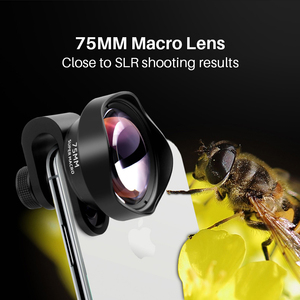 Image 2 - Ulanzi 75mm Macro Lens HD No Distortion DSLR Effect Clip on for iPhone 11 Samsung Huawei Xiaomi Phone Camera Lens 17mm Thread