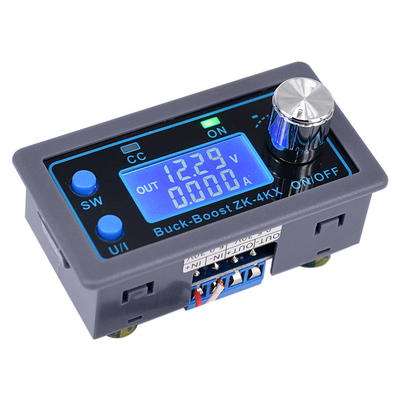 Hot ZK-4KX CNC DC DC Buck Boost Converter CC CV 0.5-30V 4A Power Module Adjustable Regulated Power Supply For Solar Battery Char