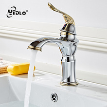 Bathroom Single handle Mixer Brass Faucets Chrome Basin Faucet Carving Handle Tap Drawing Accessories
