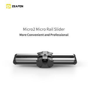Image 2 - Zeapon מיקרו 2 מיני מחוון כפול מרחק נסיעות מסלול Slider דולי רכבת עבור iphone x Smartphone DSLR//ARRI מיני/אדום/BMCC