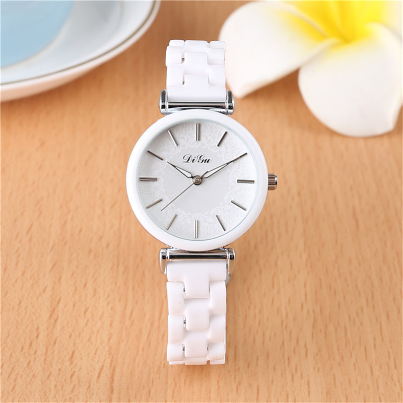 2018 DIGU Brand Fashion Watch Women Luxury Ceramic And Alloy Bracelet Analog Wristwatch Relogio Feminino Montre Relogio Clock