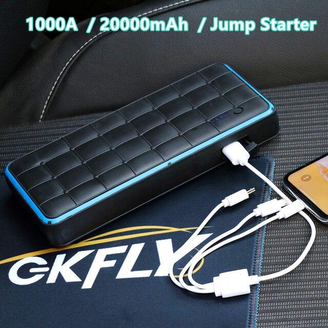 GKFLY dispositif de démarrage voiture étanche 28000mAh, chargeur de batterie pour essence, 8 l, Diesel, batterie externe l, 12V, 1000a