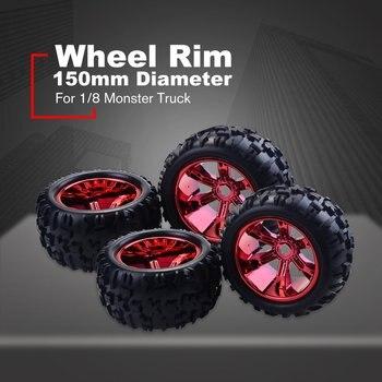 RC Car Wheel Rim Tires for Redcat Hsp Kyosho Hobao Hongnor Team Losi GM HPI 1/8 Truggy Monster Truck Rubber Tyre 17mm Hex 4PCS