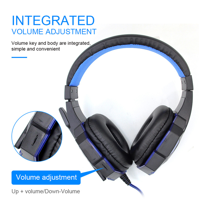 Professional Bass Gamer Wired Headphones For PS4 PS5 Switch Xbox One Gaming Headset With Mic LED Light Computer PC Phone Headset 3