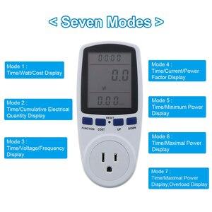 Image 2 - Kebidu medidores de potencia de CA de 230V, vatímetro Digital de toma, medidor de consumo de energía de vatios, Analizador de electricidad, Monitor EU