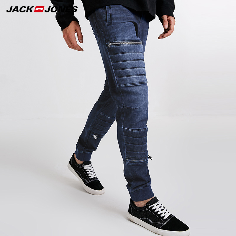 Jack Jones Mens Spring And Summer Dark Slim Fit Jeans Pants | 218332556