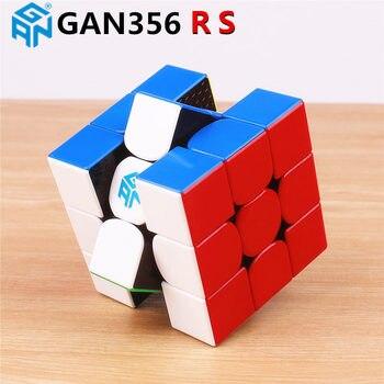Cubo de velocidad mágica GAN356 R S 3x3x3 sin pegatina profesional gan 356R puzle cubos educativos juguetes para niños gan 356 R RS