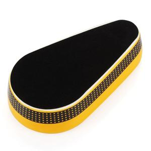 Image 5 - COHIBA أدوات السيجار السيراميك السيجار منفضة سجائر واحدة حامل فتحة الرماد المستديرة 4 ألوان الأصفر التبغ طفاية سجائر هدية صندوق
