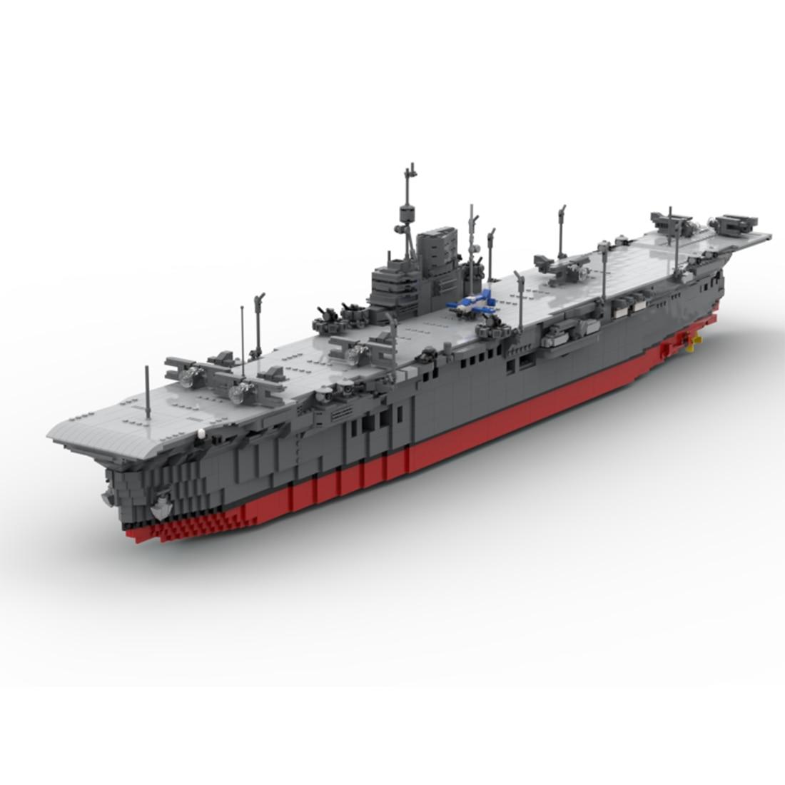4061Pcs/Set MOC Small Particle Modern Military Aircraft Carrier Building Block Model Building Figure