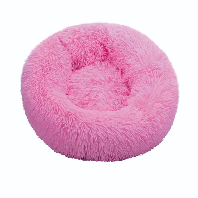 Rose-Round Cat Beds House Soft Long Plush Best Pet Dog Bed For Dogs Basket Pet