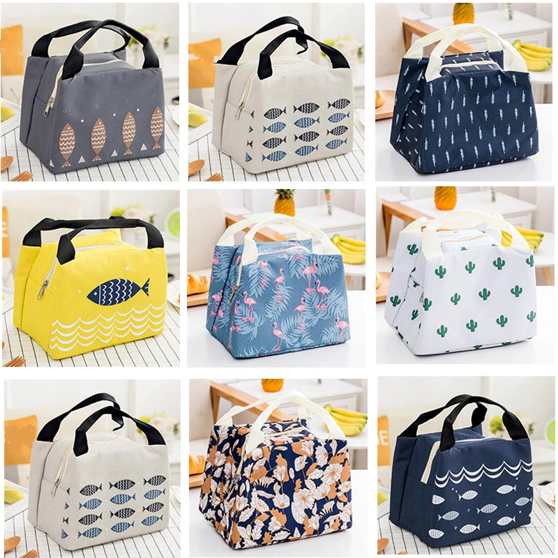 Cartoon Cute Thermal Lunch Bags For Women Kids Men Students  Lady Carry Picnic Food Cooler Storage Lunch Box Bags Pouch