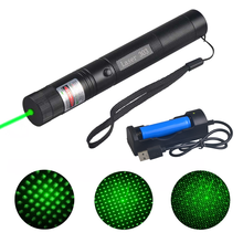Rechargeable Green Laser Pointer with Safety Lock High Power Hunting Lazer Pen 532 Strong