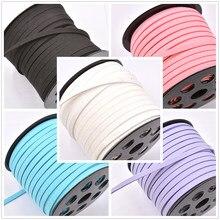 Novo 5mm 5 metro/lote camurça trançado cabo de veludo coreano couro artesanal beading cordões para fazer jóias suprimentos diy pulseira