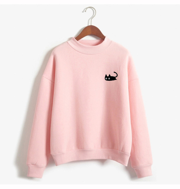 Japanese Style Cat Pastel Sweater
