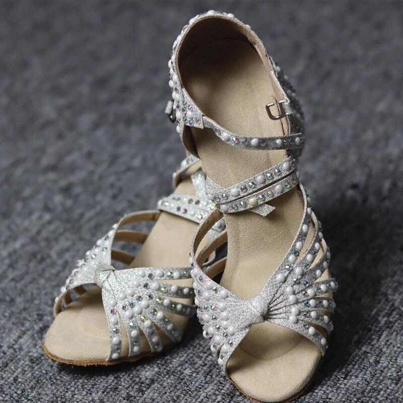 Latin Dance Shoes Balck Soft Suede Shoes Salsa Bachata Ballroom Kizomba Rumba Women Lace-up Dance Shoes Heel 5CM 10CM 2020 NEW