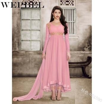 WEPBEL Eid Mubaraka Muslim Indian Clothing Abaya Dress Women Caftan Robe Dubai Turkey Print Islamic