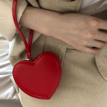 Fashion Heart Shaped Mini Money Purse Women Handbag Top-handle Bag Female Clutch Purse Ladies Street Party Wristlet