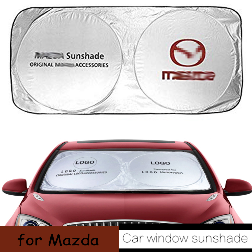 Car Windshield Sun Visor Cover For <font><b>Mazda</b></font> 2 3 5 6 8 <font><b>CX</b></font>-3 <font><b>CX</b></font>-5 <font><b>CX</b></font>-7 <font><b>CX</b></font>-6 Premacy Atenza Axela RX8 A8 RX-8 CX9 <font><b>CX</b></font>-<font><b>9</b></font> Car <font><b>Accessories</b></font> image